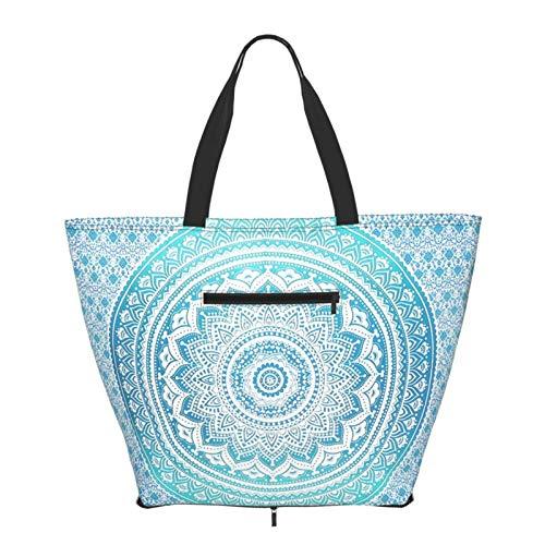 Bolsa de compras Mandala Eco Bolsa para mujeres adolescentes y niñas Moda Bolsas de hombro Bolsa Tote Bolsa para viajes Escuela Libros