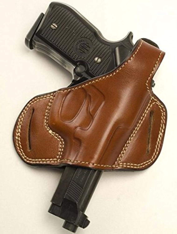 Cebeci 20887LT36 LeftHand Leather Half Pancake 20887 Holster Gun Belt, Tan, 4