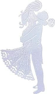 Wedding Cutting Dies Words Letter Stencil Metal DIY Scrapbooking Wedding Metal Cutting Dies Stencil Album (Wedding D)