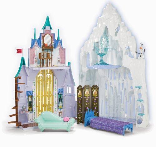 Disney Princesse - Maison De Poupée - La Reine Des Neiges - Château Et Palais De Glace D'Elsa Et Anna