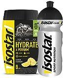 Isostar Hydrate & Perform Iso Drink - 400 g di polvere isotonica per bevande - polvere di elettroliti per supportare le prestazioni atletiche - limone + bottiglia da 0,5 litri