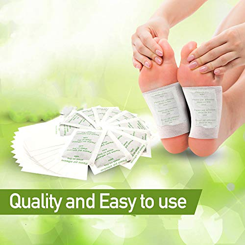 TAIYANYU Foot Pads,Detox Foot Patch,Anti-Stress Relief andFeetHealth,Impurity Removal,Pain Relief,Relaxation,Pure Natural Bamboo VinegarPremium Ingredients Combination,Sleep All Natural(100 Packs)