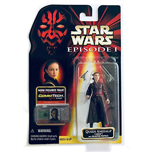 Star Wars Episode 1 - Action Figur 84078 - Queen Amidala (Naboo) mit Blaster Pistolen (inkl. CommTech Chip)
