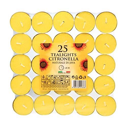 CB Imports Lot de 25 bougies chauffe-plat à la citronnelle