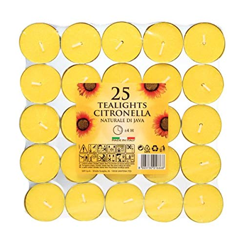 Price's Candles Citronella Tealights Pack of 25 (Citronella Range)