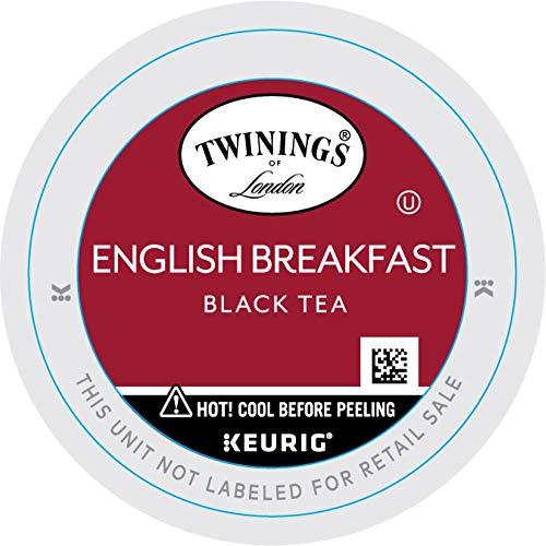 Twinings of London English Breakfast Tea K-Cups for Keurig, 24 Count