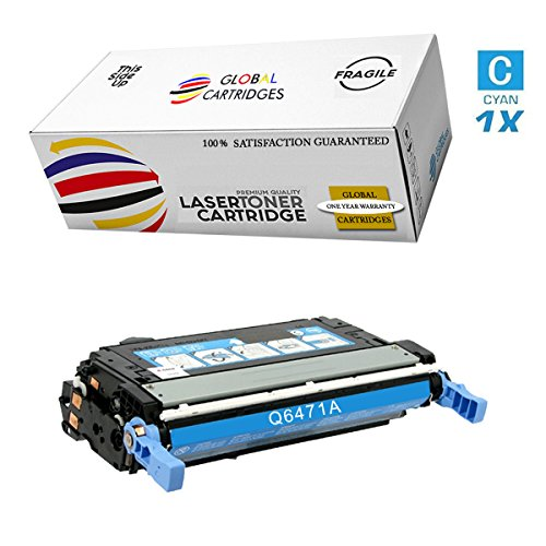 GLB Premium Quality Remanufactured Replacement for HP 501A/502A HP 3600 Cyan Q6471A Toner Cartridge