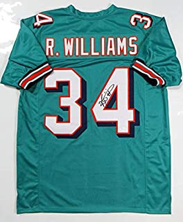 f5e619b4469 Ricky Williams Autographed Teal Pro Style Jersey- JSA W Authenticated