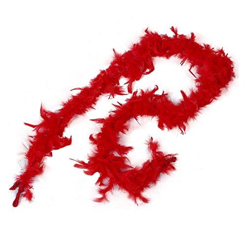 2M Boa Di Piume Di Marab¨´ Costume Per Feste Carnevale Matrimonio - Rosso