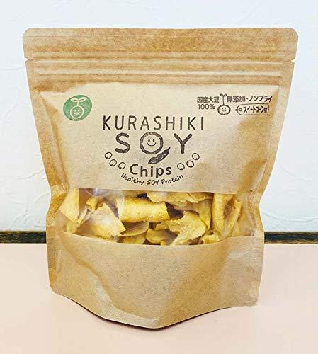 国産大豆の倉敷ソイチップス スイートコーン味90g 国産大豆100%・無添加・ノンフライ