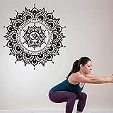 Tianpengyuanshuai Yoga Pegatina patrón calcomanía Fitness Cartel Vinilo Pared calcomanía decoración Mural Yoga Pegatina 57x57cm