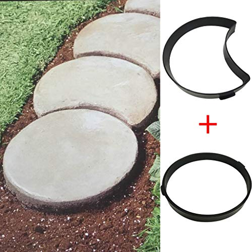 DIY Pavement Mold, Reusable Walk Maker Cement Concrete Molds, Stepping Stone Mold Pavers for Patio & Garden & Yard & Lawn