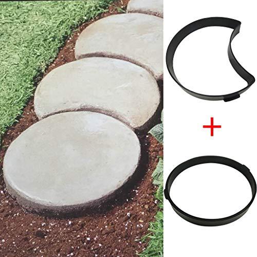 BakeLIN Betonform Betonform Gießform Plastikform Schablone, für Beton/Kopfsteinpflaster/Pflastersteine/Terrassenplatten/Trittplatten/Gehwegplatten, für Garten Plasterform (A)