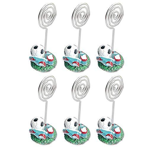 Set di 6 segnaposto segnaposto segnaposto a forma di pallone a forma di calcio.
