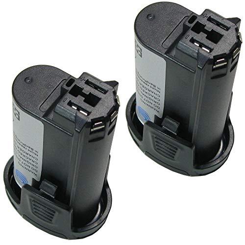 Preisvergleich Produktbild 2x Trade-Shop Premium Li-Ion Qualitäts Akku 7, 2V / 2500mAh ersetzt Dremel 757-01,  855-02,  855-45,  2.615.085.5JD,  26150855JD für Dremel 8000-01,  8001-01