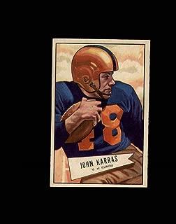 1952 Bowman Small Football #024 John Karras STARX 7 NM CS52984