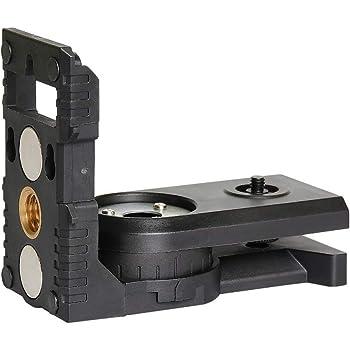 Base Pivotante Magn/étique Multifonctionnelle avec Clip R/églable Huepar Adaptateur Niveau Laser Rotation Pr/écise /à Micro-r/églage Laser Level Adapter /à 360/° avec Filetage M/âle 1//4-20 PV10+