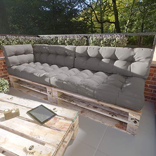 MSS® 5er-Set Relax Palettenkissen Stone