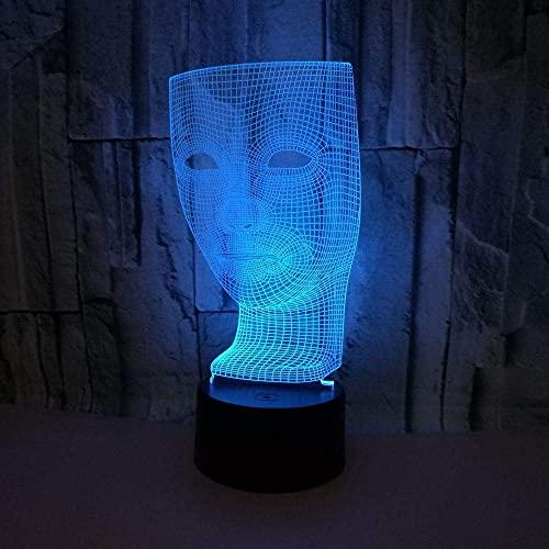Lámpara de ilusión de luz nocturna 3D mesita de noche forma de pantalla 7 interruptor táctil que cambia de color lámpara de decoración de escritorio regalo para niños acrílico plano USB
