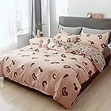CZDXMFour Seasons Bettwäsche Polyester Fibre Silk Cotton Sheets Bettbezug Heimtextilien Einfacher Anzug Serbien 1,0 M Dreiteilig