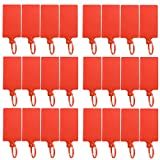 DROK 24 Pack Red Plastic Parcel Tags, High-Class Writable Luggage Inventory Tag...