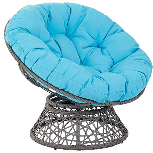 YUNLVC Papasan Chair Pad Thicken For Garden Indoor Swing Hanging Egg with Ties Breathable Seat Cushion Chair Cushion Outdoor-100cm/39.37in Sky Blue