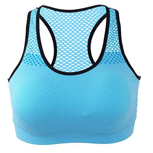 Cwang Camisola para Mujer Sujetador Camisola en Forma de V Correa sin Costuras para Dormir y Correa para cojín desmontableazulXL