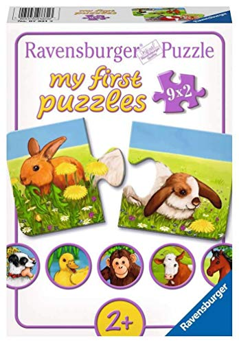 Ravensburger Kinderpuzzle 07331 - Liebenswerte Tiere - my first puzzles - 2,4,6,8 Teile