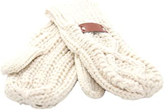 Aran Traditions Diamond Cable Knit Winter Mitts