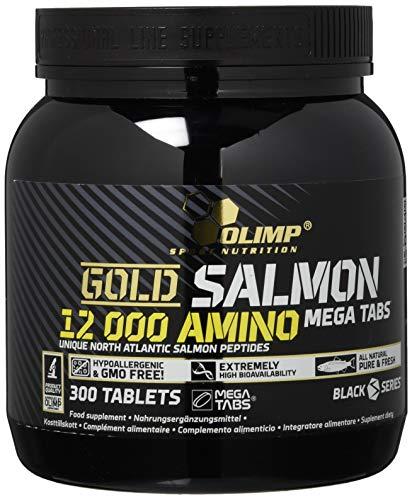 Olimp Gold Salmon 12000 Amino Mega Tabs | Hypoallergenes Salmon Hydrolisat Protein | 300 Tabletten