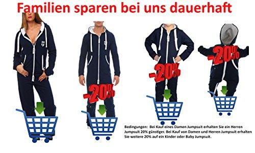 Gennadi Hoppe Herren Jumpsuit Onesie Jogger Einteiler Overall Jogging Anzug Trainingsanzug Slim Fit,Camel,XXX-Large - 8