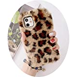 Leopard Fluffy Phone Case For iPhone 11 Pro 12 max Warm Fuzzy Soft Back Cover Cute Capas For Iphone 12 MINI,WY354-3,For-iphone11ProMax