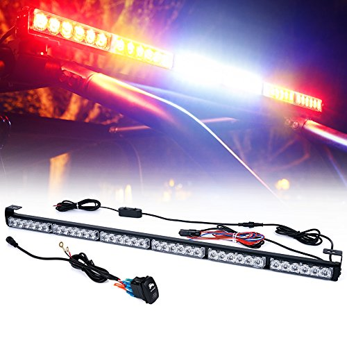"""Xprite 36"""" Rear LED Chase Light Bars, All in One w/Strobe Brake Reverse Turn Signal Light for Jeep, Yamaha, Can-Am Maverick X3, ATV, UTV, Side by Side and Off Road Vehicles - RYWWYR"""