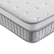 【Pocket Sprung Mattress】- Vesgantti single mattress is constructed by hundreds of individual pocketed stainless spring coils. Each spring works independently, making this medium firm mattress offer an all-over and even support 7 parts of your body (F...