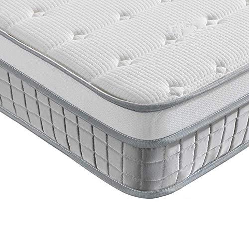 Vesgantti 5FT King Size Mattress, 9.6 Inch Pocket Sprung Mattress King Size with Breathable Foam and Individually Wrapped Spring - Medium Firm Feel, Modern Box Top Collection