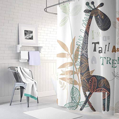 lopollg Cartoon douchegordijn waterdicht schimmel badkamer douchegordijn polyester gordijn@[enkel gordijn] 240 cm breed * 200 cm hoog + haak