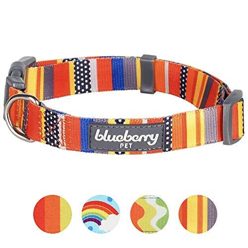 Blueberry Pet Nautical Flags Inspired Designer Basic Dog Collar, Neck 14.5