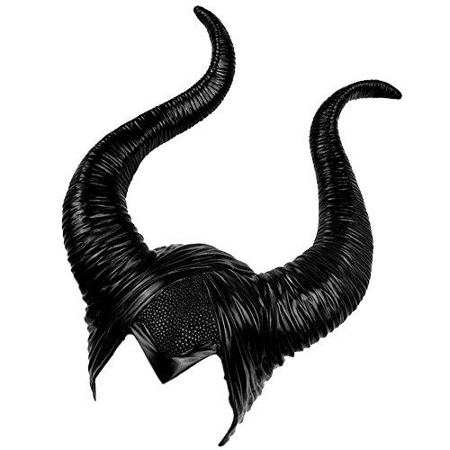 Enjoygoeu Halloween Kostüm Kopfschmuck Hörner Cosplay Teufel Hut Kopfbedeckung Frauen Party Verkleidung Devil Schwarz