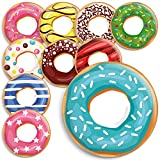 Kühlschrankmagnete Donut - Magnete für den Kühlschrank, Magnettafel oder Whiteboard. 38mm Durchmesser (ohne Loch in der Mitte), Glänzende Beschichtung