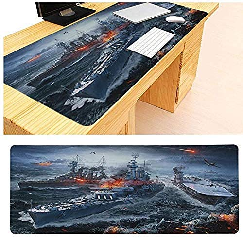 Mouse pad Large Mouse Pad World of Warship Beautiful Mouse Mat Computer Mouse Pad Gaming Mouse Pads Locking Edge Mouse Mat 8003003mm