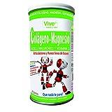 Vive+ Colágeno + Magnesio, Ácido Hialurónico y Vitamina C - 2 Paquetes de 200 gr - Total: 400 gr