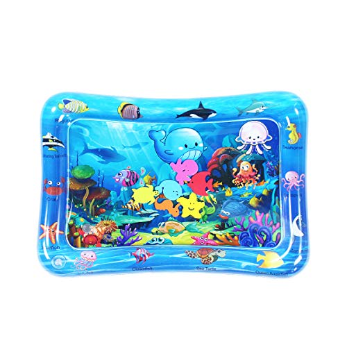 SUNSHINE-MALL Tummy Time Baby Water Play Mat Toys for 3 6 9 Months Newborn Infant&Toddlers, Inflatable Play Mat Water Cushion Infant Toys, Fun Early Development Activity Play Center for Newborn