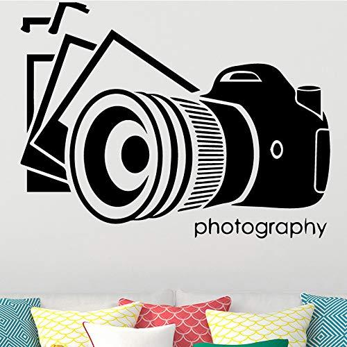SLQUIET Alte Kamera Wandkunst Aufkleber Wandaufkleber DIY Abziehbild Zubehör Vinyl Wasserdichte Wandaufkleber für Wohnzimmer Wandtattoo 30 cm X 44 cm