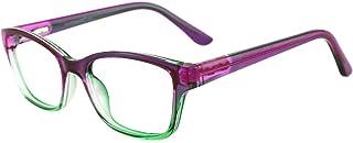 شیشه های مستطیلی بچه های Nerdy کودکان و نوجوانان Nerdy عینک غیر تجویز شفاف برای پسران دخترانه