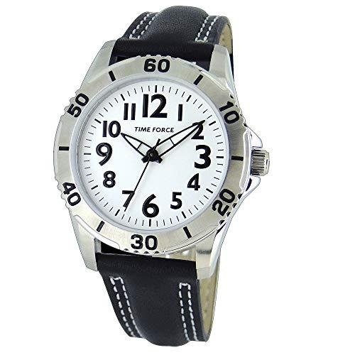 Time Force Reloj Analógico para Niños de Cuarzo con Correa en Cuero TF4137B02
