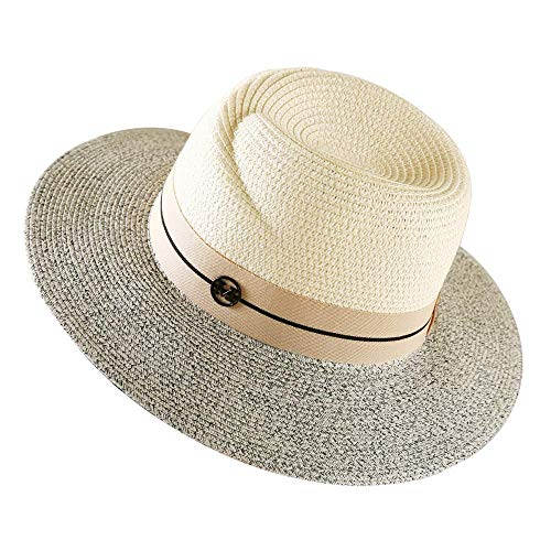 ZXL hoed - strohoed dames zomer Europese en Amerikaanse hoeden zee reizen strand hoed zonnescherm eenvoudige sfeer (4 kleuren) Lady zonnehoed (kleur: # 1) #1