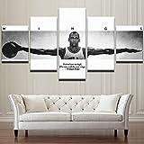 HNTHBZ Mode Leinwand Malerei Sport Basketball NBA Poster