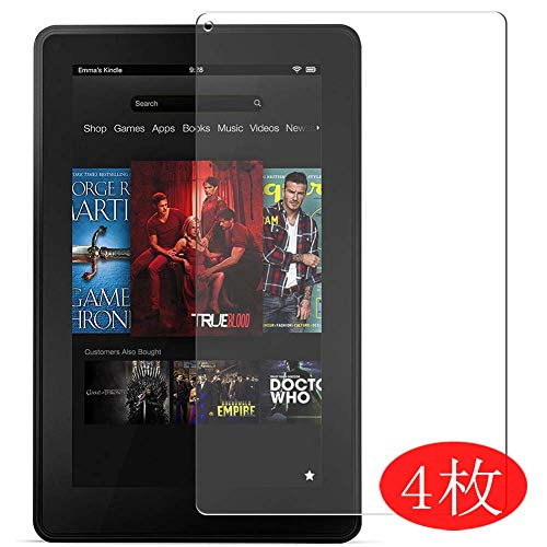 4-Pack Vaxson Screen Protector Compatible with amazon Kindle Fire 1st, Ultra HD Film Protector [NOT Tempered Glass] TPU Flexible Protective Film