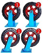 MTHW Trevligt att använda fyra hjulhjul tunga hjul svängbara hjul gummihjul för möbler bord vagn säng arbetsbänk, 12 tums ...