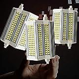 3-Pack Outdoor R7S 50W LED Bombilla 118mm Dimmable Dimmable Luz de cálido de Doble Extremo de 220 Grados Ángulo de Haz de 220 Grados J118 Bulbo Equivalente a 500W Halógeno Ahorro de energía